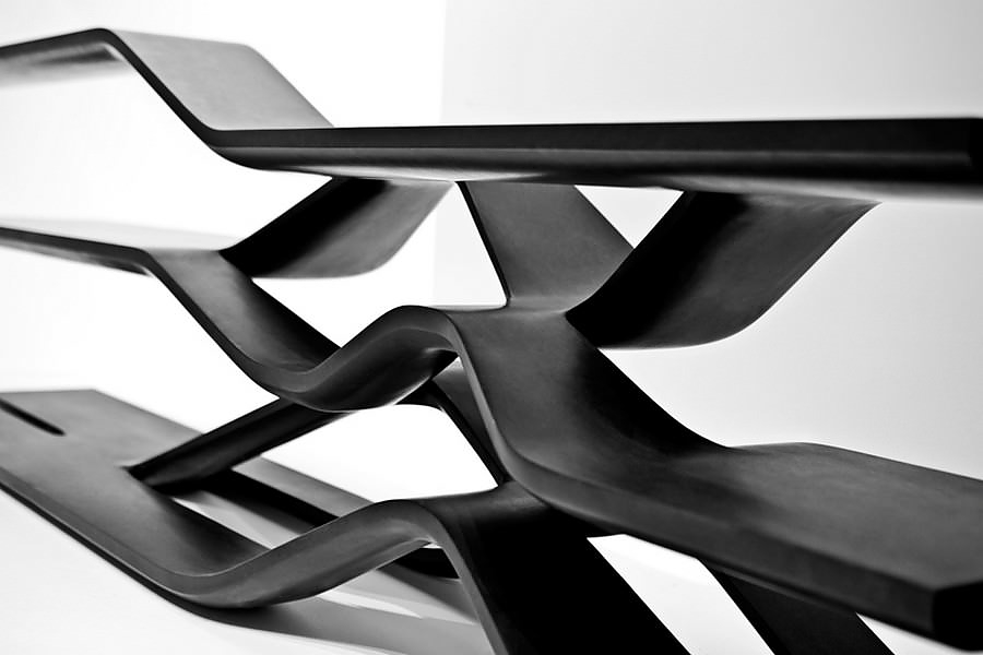Tela Granite Shelving Unit by Zaha Hadid for CITCO.