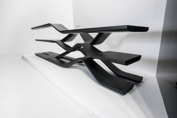 Tela Granite Shelving Unit by Zaha Hadid for CITCO