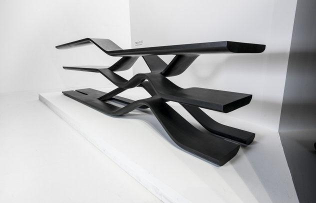 Tela Granite Shelving Unit by Zaha Hadid for CITCO