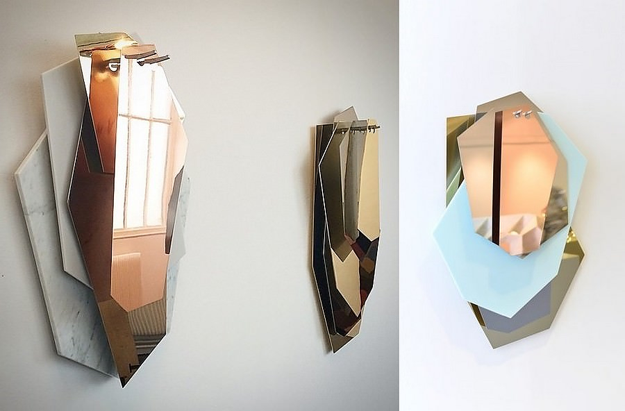 Facet Pattern Mirror Artworks by Arik Levy