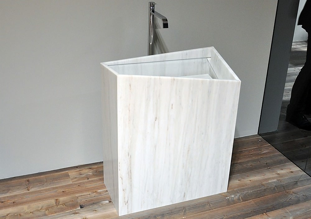 Mono-Lite Marble Washbasin by Thing Design.