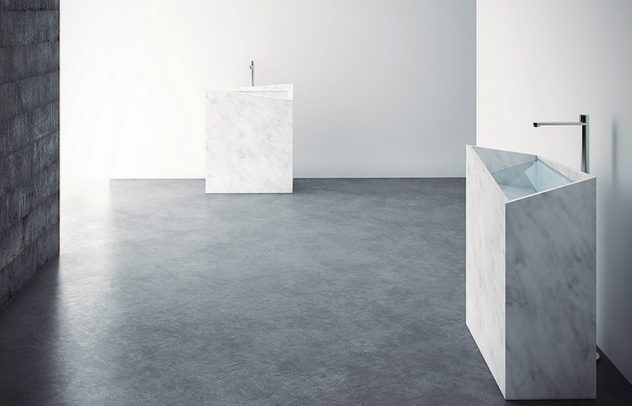 Mono-Lite Marble and Glass Washbasin by Thing Design