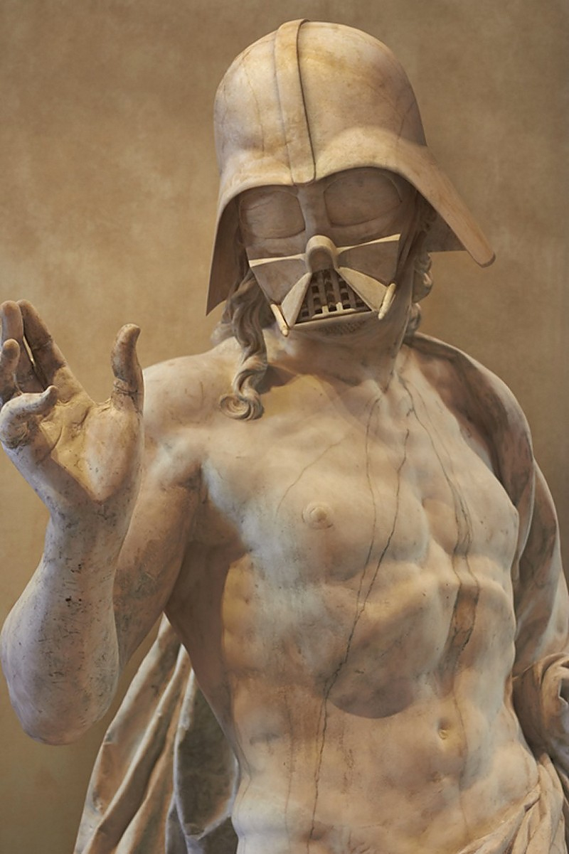Travis Durden Reimagines Star Wars Characters as Classical Greek Marble Statues.