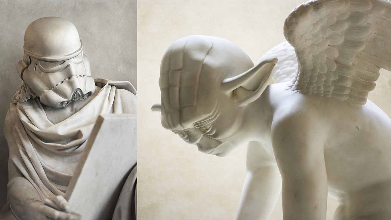 Travis Durden Reimagines Star Wars Characters as Classical Marble Statues