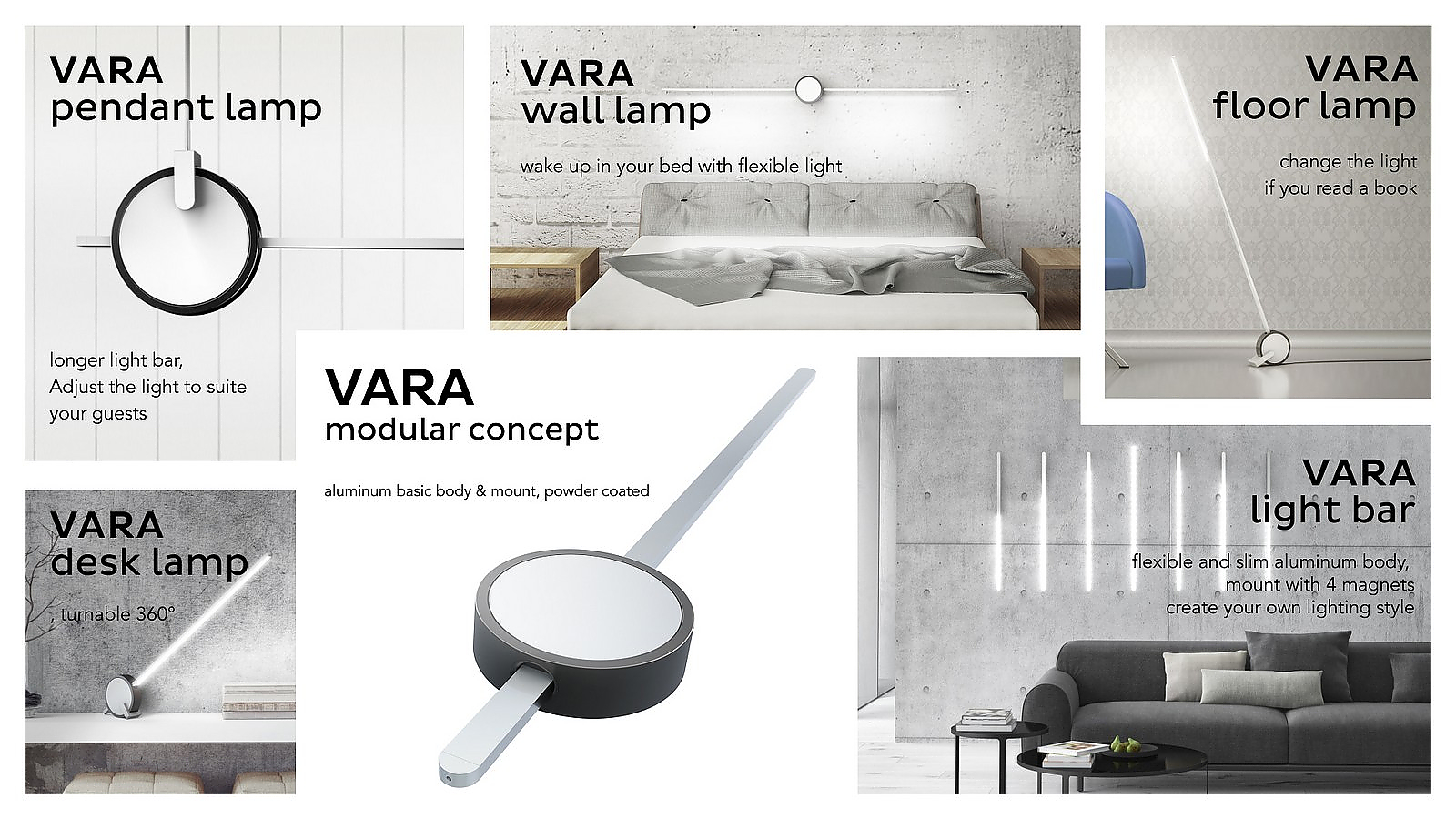 VARA Interactive Led Lamps with app-control by Holy Trinity.