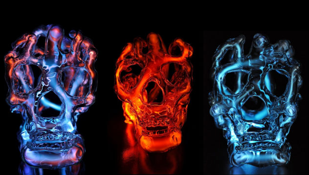 Luminous Skull Sculptures by Eric Franklin