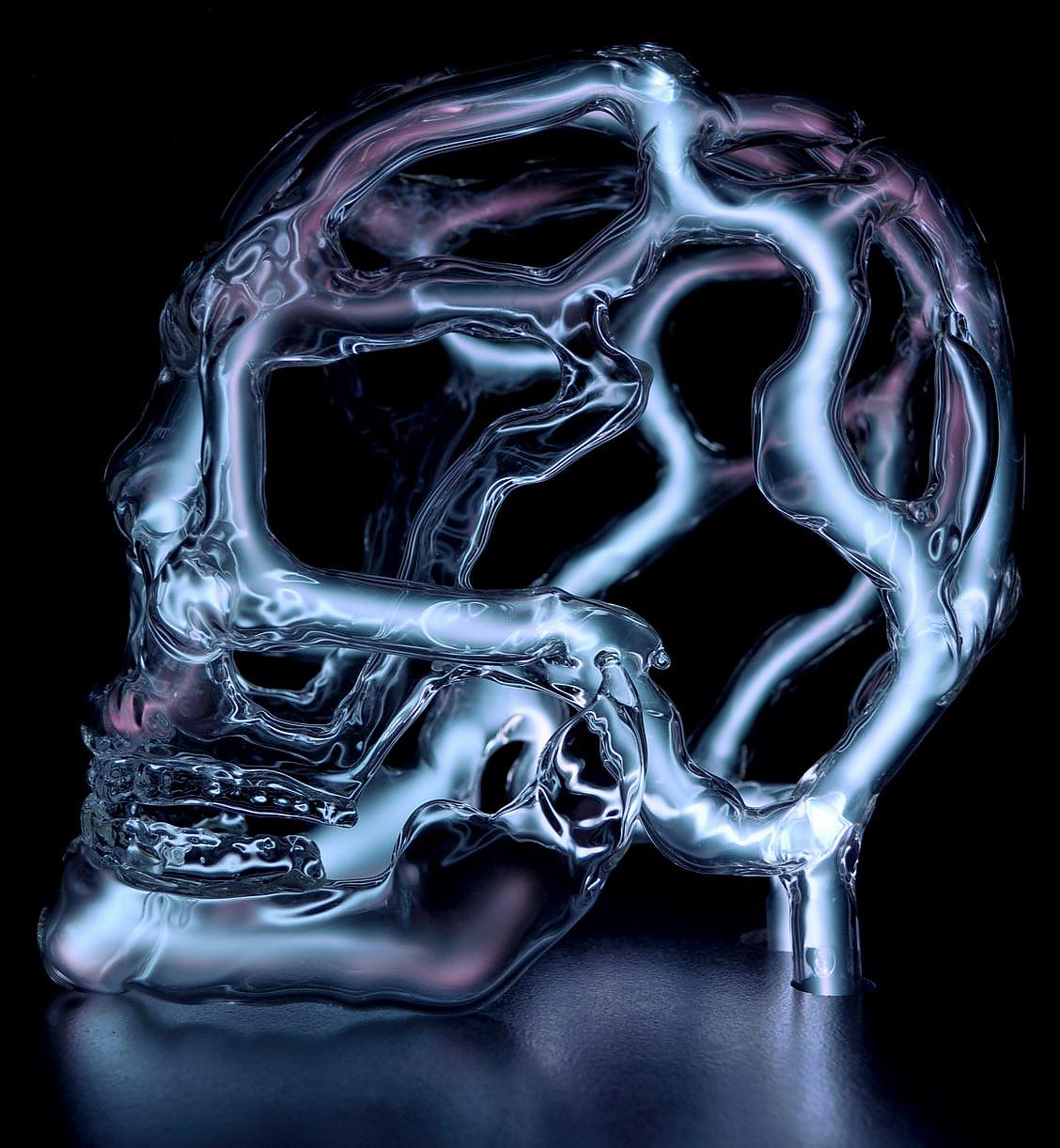 Luminous Skull Sculptures by Eric Franklin.