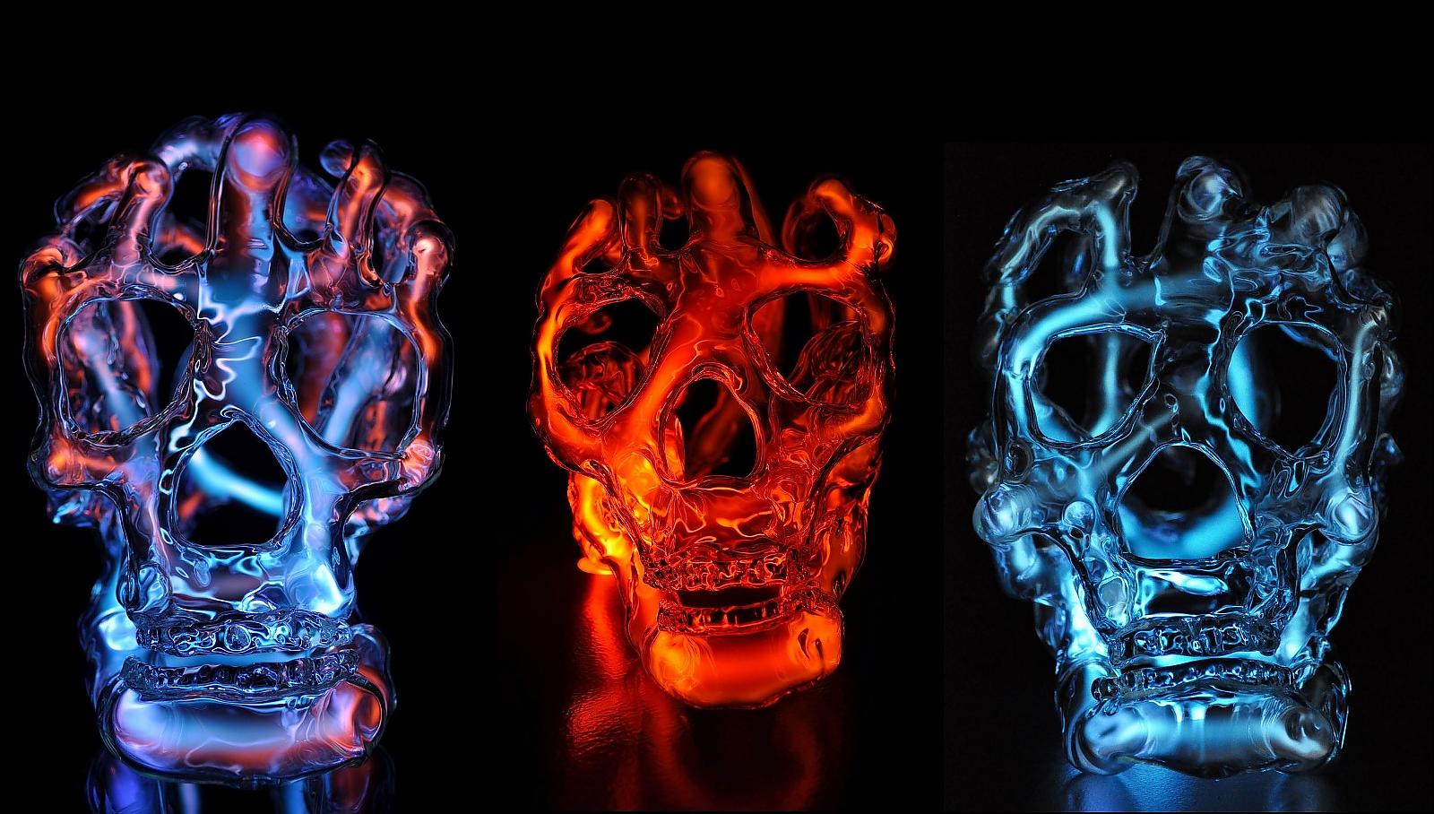 Luminous Skull Sculptures by Eric Franklin
