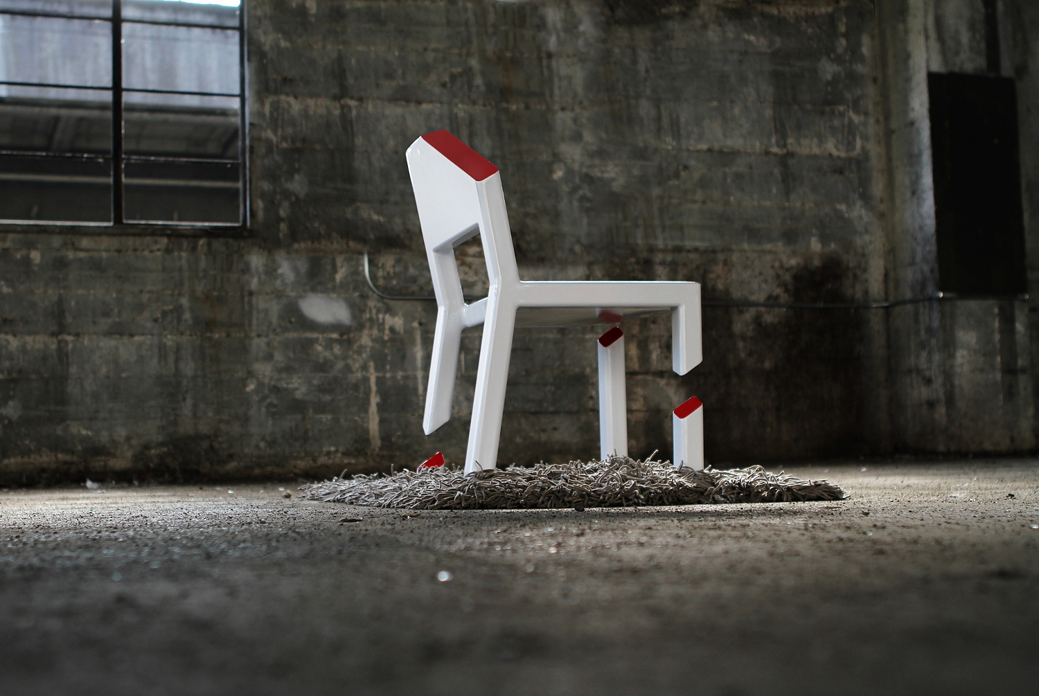 Cut chair by Peter Bristol.