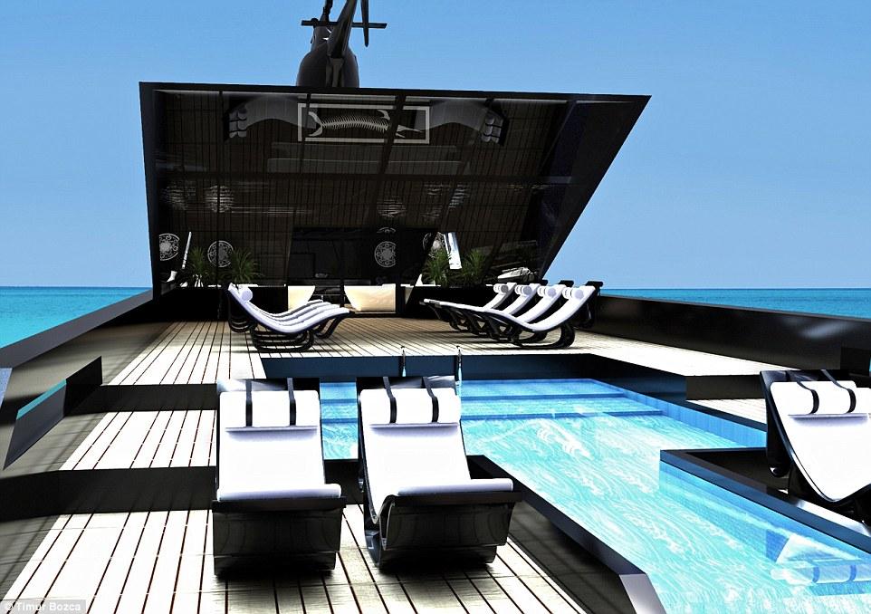 Black Swan Superyacht by Timur Bozca.