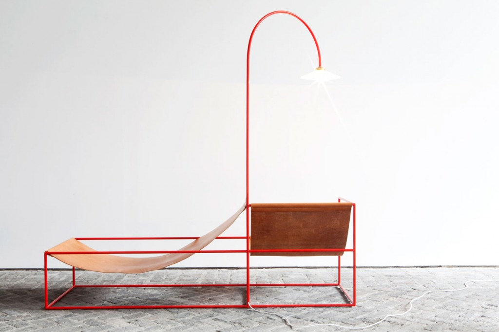 Duo Seat + Lamp by Muller Van Severen.