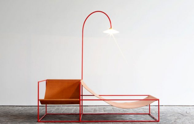 Muller Van Severen Red Chaise Longue