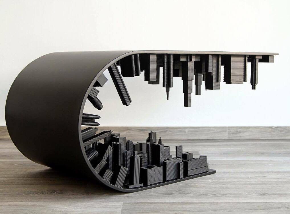 Wave City Coffee Table Black Edition by Stelios Mousarris.