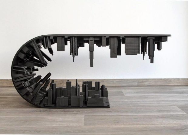 Wave City Coffee Table Black Edition