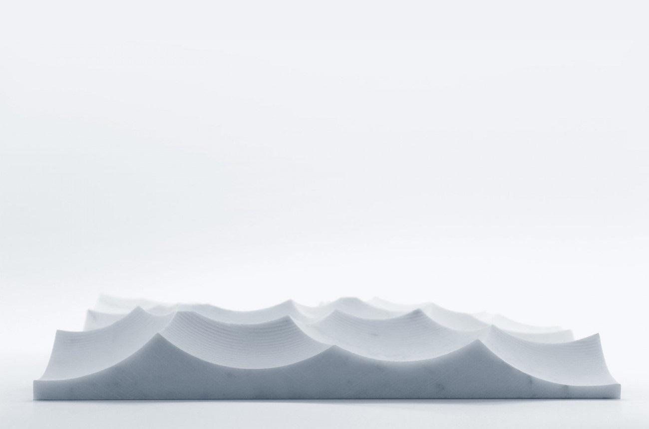 MARE TRANQULLITATIS Marble Tray by Shiro Studio.