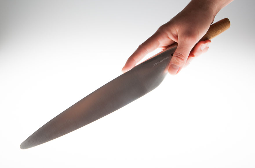 Το μαχαίρι κουζίνας Per Finne συνδυάζει το Σκανδιναβικό με το Ιαπωνικό design.