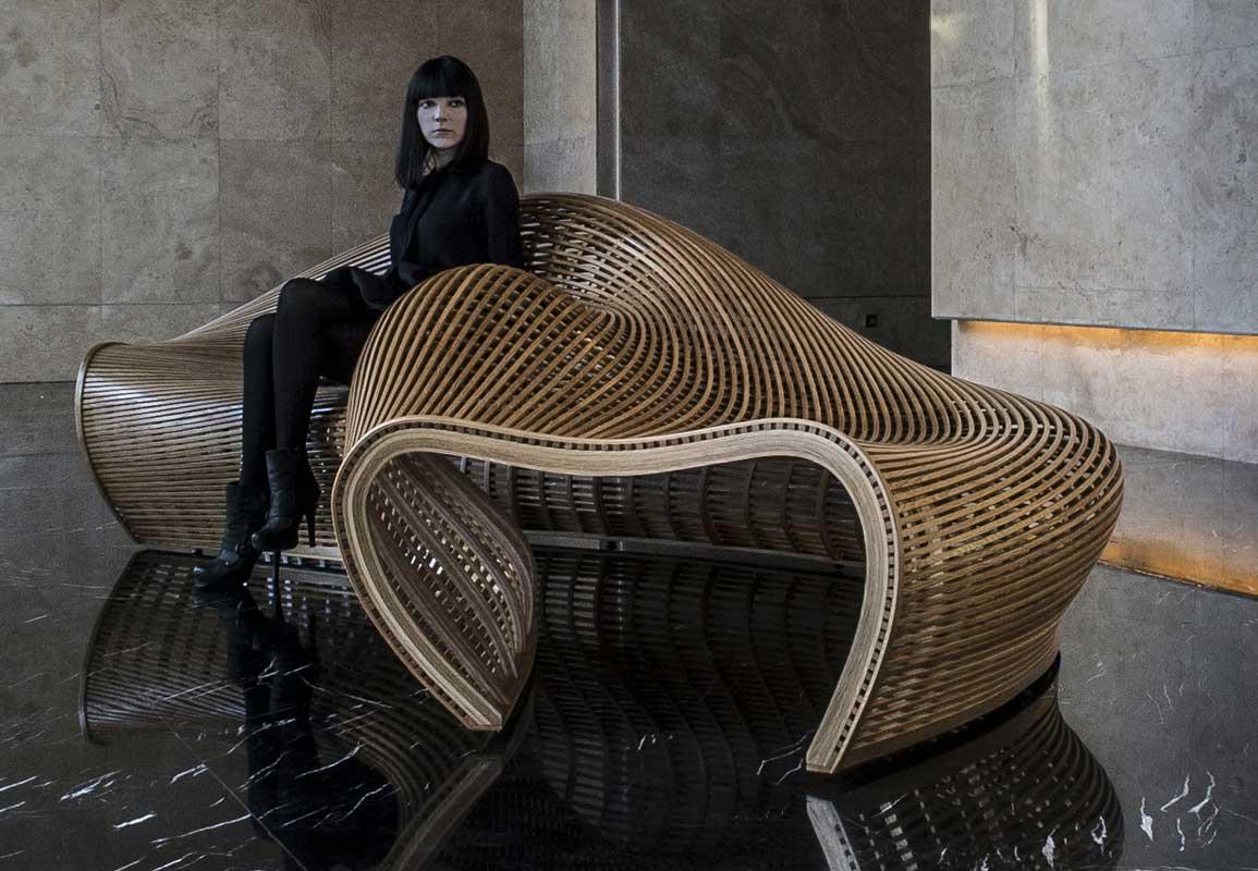 Amada Sculptural Bench by Matthias Pliessnig.