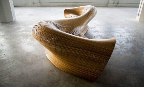 Amada Sculptural Bench by Matthias Pliessnig