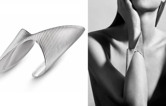 Βραχιόλι Lamellae της Zaha Hadid για τον οίκο Georg Jensen
