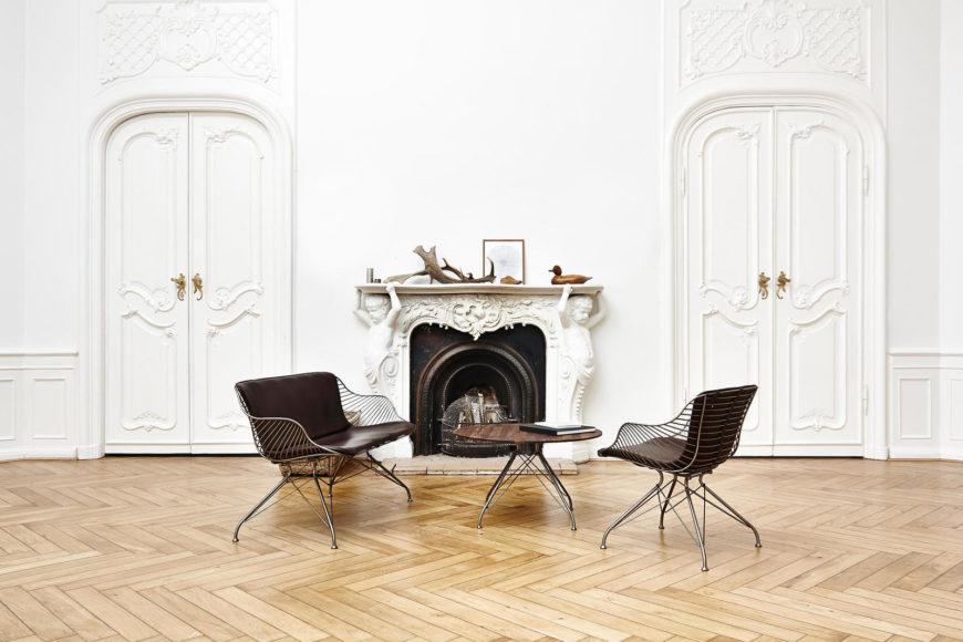 Μεταλλική καρέκλα Wire από τους Overgaard & Dyrman.