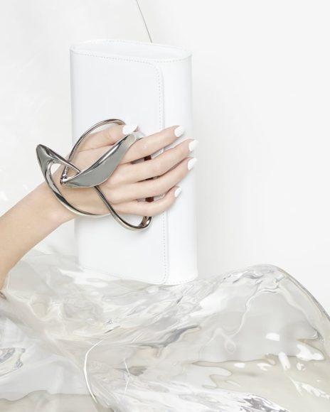 Γυναικείες τσάντες Clutch της Zaha Hadid για την Perrin Paris.