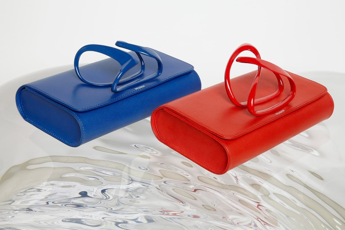 Perrin Paris x Zaha Hadid Clutch Bag Collection.