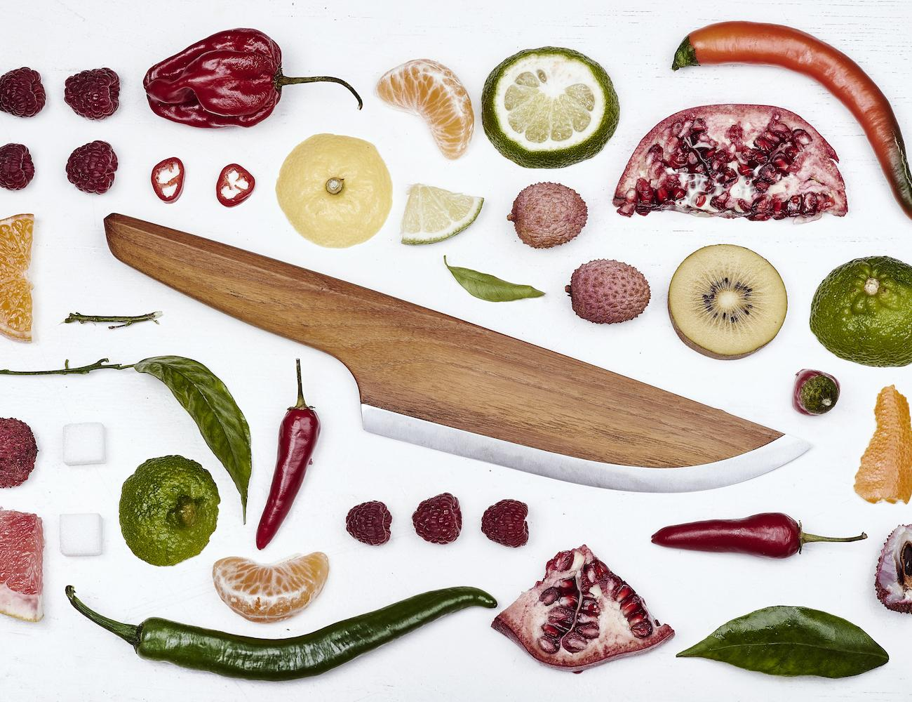 SKID Wooden Chef Knife: Form Beyond Function.