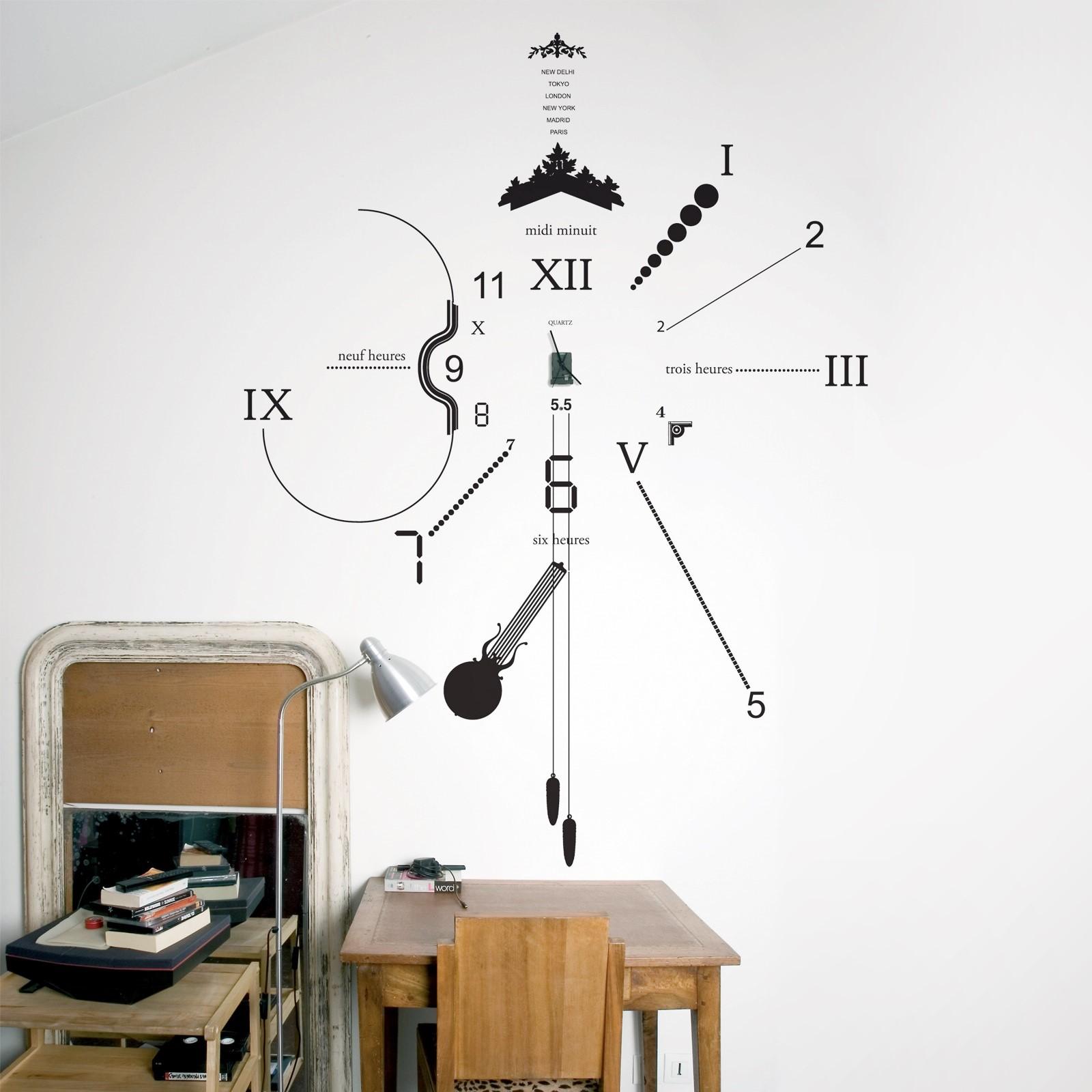 Διακοσμητικό Ρολόι Τοίχου Vinyl