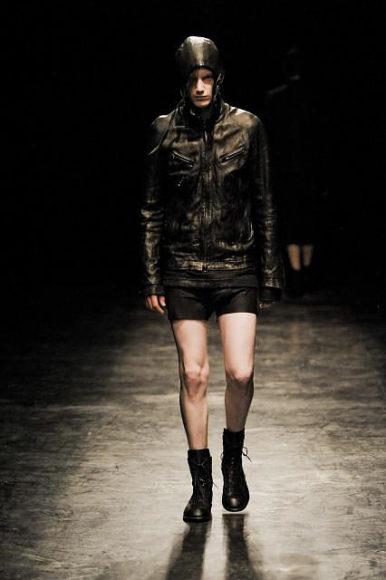 Ekam leather jackets by Kanya Miki.