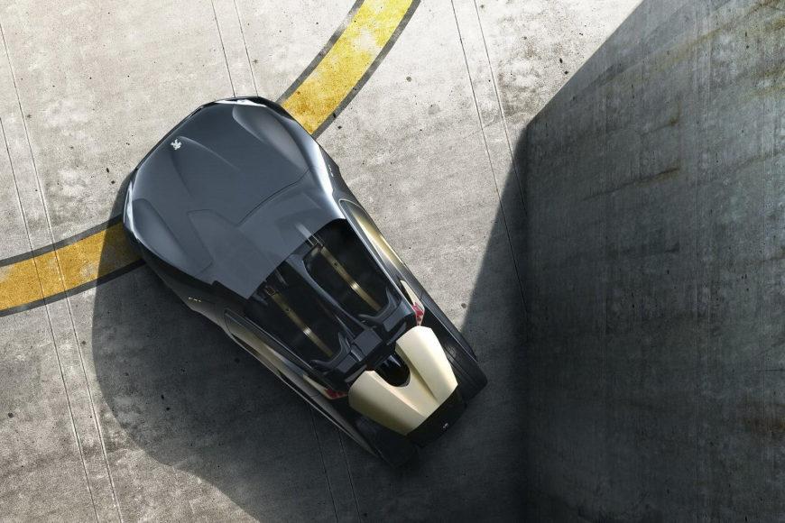 Peugeot EX-1 Electric Racecar.