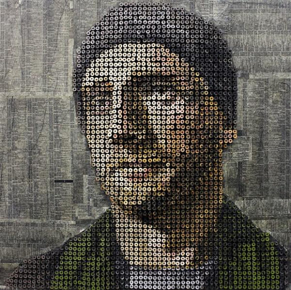 Τρισδιάστατοι πίνακες ζωγραφικής φτιαγμένοι με βίδες του Andrew Myers.