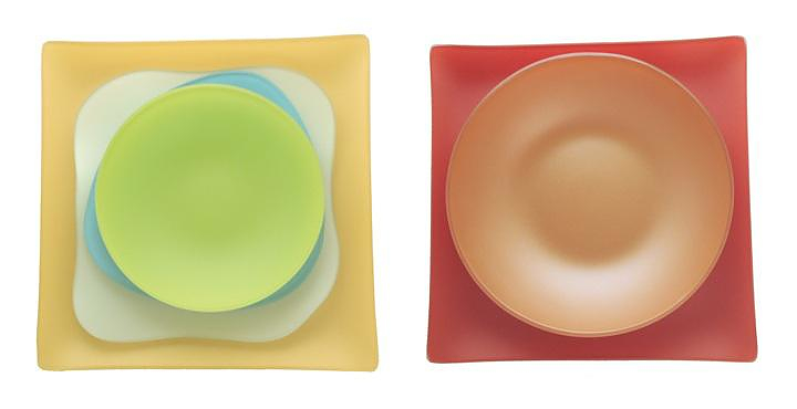 Μοντέρνα γυάλινα πιάτα SeaGlass.