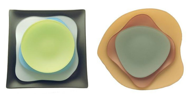 Seaglass Plates by Riverside Design Group