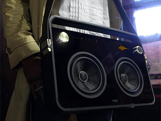 TDK Boombox portable audio system.