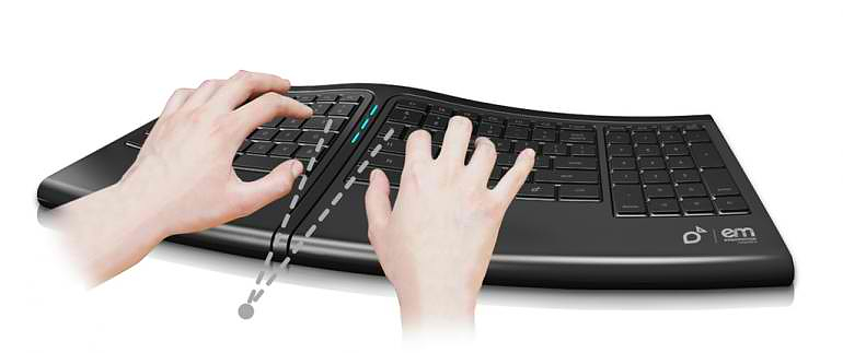 Smartfish Engage ergonomic keyboard.