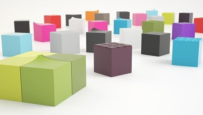 Blocks Pouf by JSPR