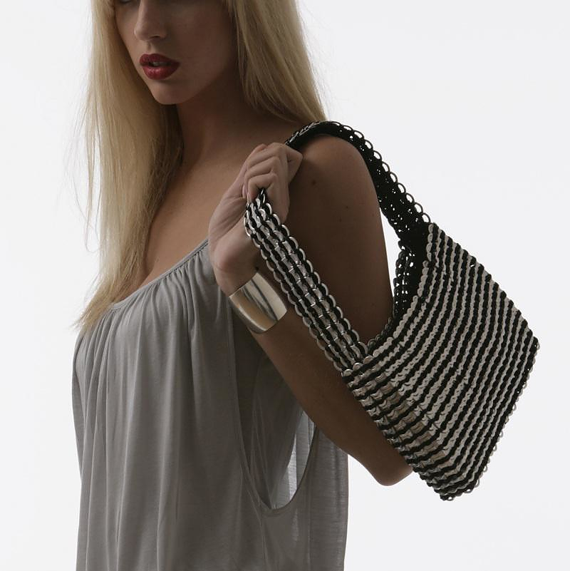 Bags from recycled materials by Escama Studio.
