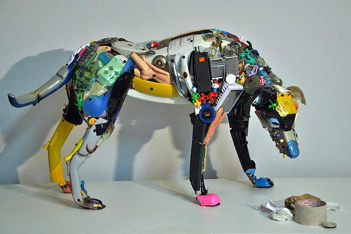 Dario Tironi and Koji Yoshida Junk Sculptures