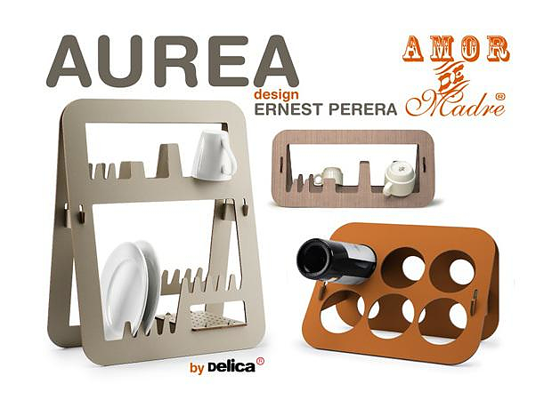 Στεγνωτήριο πιάτων και βάση μπουκαλιών Aurea από την Amor De Madre.