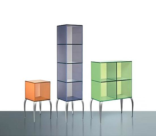 Gelly Glass Displays by Philippe Starck for FIAM Italia.