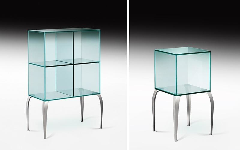 gelly glass displays by philippe starck for fiam italia. Black Bedroom Furniture Sets. Home Design Ideas