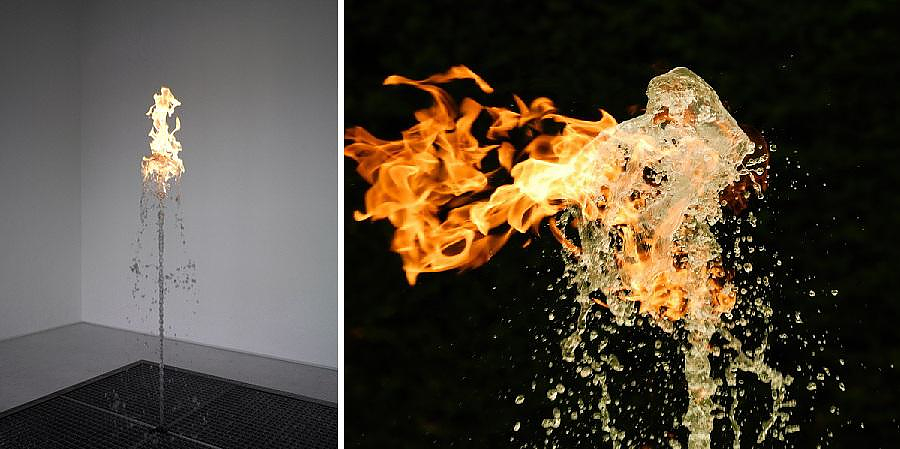 Jeppe Hein Water Flame