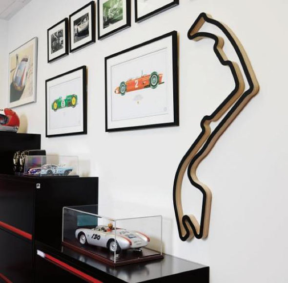 Race Tracks Of The World, F1 racing circuits are transformed into pieces of art.