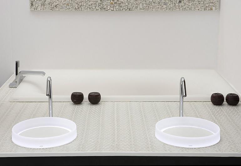 TOTO Luminist Washbasins are illuminating bathroom design.