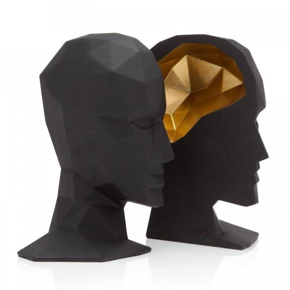 Knowledge in the Brain Bookends by Karim Rashid.
