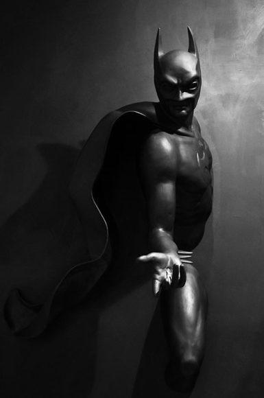 Γλυπτά με θέμα Superheroes από τον Adrian Tranquilli.