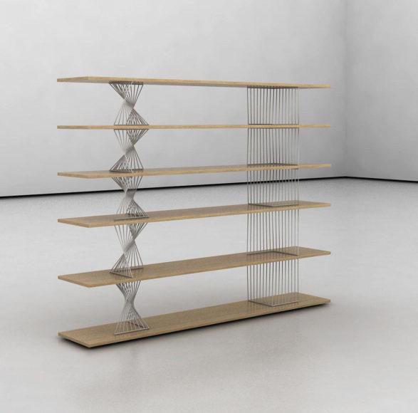 Βιβλιοθήκη Wire Shelves από την Viable London.