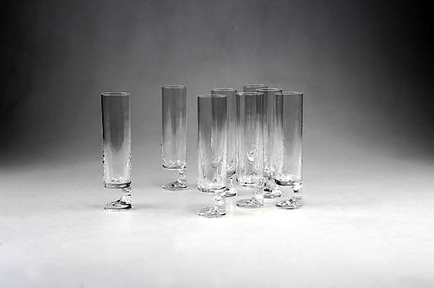 Κρυστάλλινα ποτήρια Smoke από τον Joe Colombo.