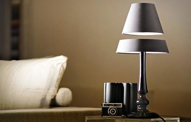 Magnetic floating lamps by Crealev.