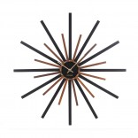Ρολόι Τοίχου Diva (Μαύρο / Καρυδιά) - Karlsson